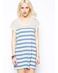 Mink Pink Raw Power Stripe Tunic Dress - Lyst