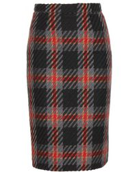 Miu Miu Wool Pencil Skirt - Lyst