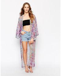 Oh My Love - Longline Kimono - Lyst