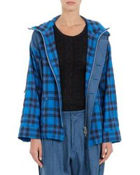 Yohji Yamamoto Plaid Hooded Jacket - Lyst