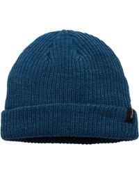 2dd3f4cc28d4b Lyst - Brixton Redmond Beanie in Blue for Men