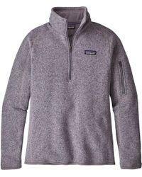 Patagonia - Better Sweater 1/4-zip Fleece Jacket - Lyst