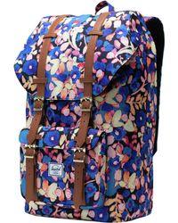 862ce9f4eece Lyst - Herschel Supply Co. Little America Hemp Backpack in Blue for Men