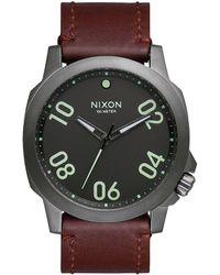 Nixon - Ranger 45 Leather Watch - Lyst