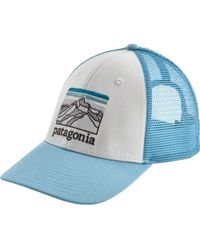 cde18e29dd0ff Lyst - Patagonia Line Logo Badge Lopro Trucker Hat in Green for Men