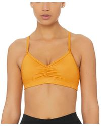 1220369669e8f Lyst - Alo Yoga Sunny Strappy Sports Bra in Natural