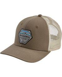 762da7290d84a Lyst - Patagonia Fitz Roy Hex Trucker Hat in Blue for Men