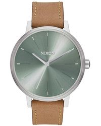 Nixon - Kensington Leather Watch - Lyst