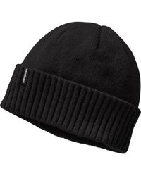 dc67a97e Patagonia Brodeo Beanie in Black for Men - Lyst