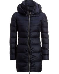 Add - White Goose Down Hooded Coat - Lyst