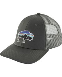 5a14b3309dec0 Patagonia Fitz Roy Bison Low Profile Trucker Hat in Brown for Men - Lyst