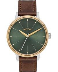 Nixon - Kensington Leather Watch - Lyst