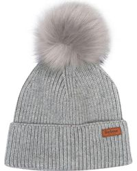 608c720e8 Lyst - Barbour Dove Pom Beanie in Natural