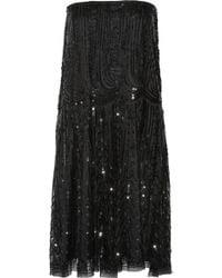 Alberta Ferretti Embellished Tulle Dress - Lyst