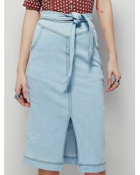 Free People | Womens All Star Pencil Skirt | Lyst