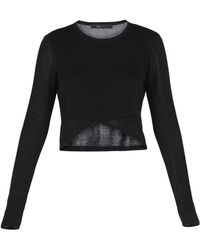 BCBGMAXAZRIA Renea Sheer Crop Top - Lyst