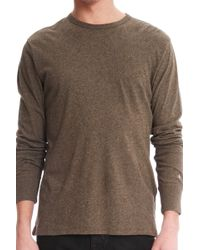 Rag & Bone Tweed Long Sleeve Tee - Lyst