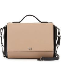 Halston Heritage Small Leather Flap Shoulder Bag - Lyst