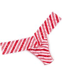 Hanky Panky Peppermint Stripe Low-rise Thong - Lyst