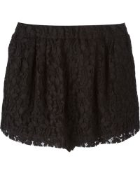 MSGM Lace Shorts - Lyst