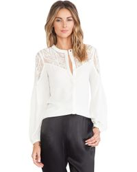 Alice By Temperley Dawn Shirt white - Lyst