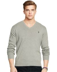 Polo Ralph Lauren - Pima V-neck Sweater - Lyst