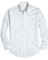 Brooks Brothers Non-Iron Madison Fit Tattersall Sport Shirt - Lyst
