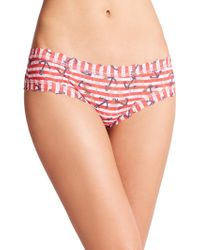Hanky Panky Anchor Stripe Lace Hipster multicolor - Lyst