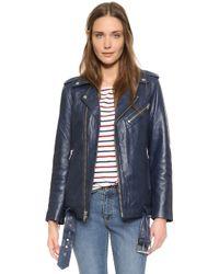 Ganni - Passion Biker Jacket - Dress Blues - Lyst