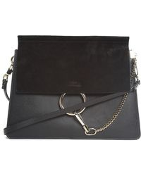 Chloé - Faye Leather And Suede Shoulder Bag - Lyst