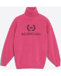 Balenciaga - Pullover dolcevita ricamato - Lyst