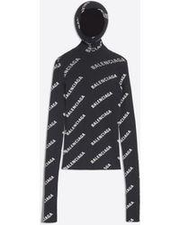 Balenciaga - Jersey ajustado con logotipo en toda la prenda - Lyst