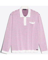 Balenciaga - Striped Polo Neck Jumper - Lyst