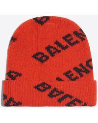 Balenciaga - Jacquard Logo Beanie - Lyst