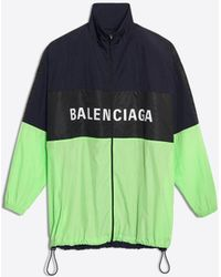 Balenciaga - Giacca con zip e logo - Lyst