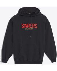 Balenciaga - Oversize Hoody Jumper 'sinners' - Lyst