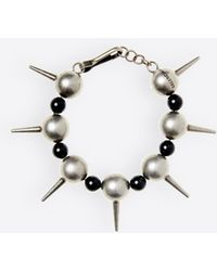 Balenciaga - Bracciale metallo e perle - Lyst