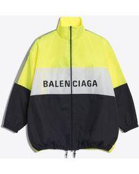 Balenciaga - Giacca da tuta in nylon con logo - Lyst