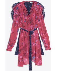 Balenciaga - Semi Fitted Flou Dress - Lyst