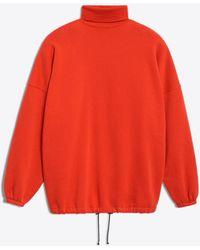 Balenciaga - Oversized Red Sweatshirt - Lyst