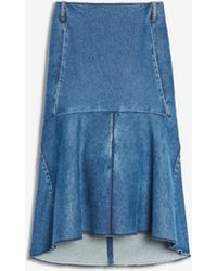 Balenciaga - Denim Godet Skirt - Lyst