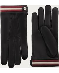 Bally - Nappa Leather Gloves Men's Leather Gloves In Black - Lyst