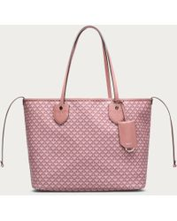Bally - Bernina Medium Women ́s Medium Canvas Tote Bag In Rosehaze & Dusty Pink - Lyst