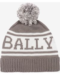 Bally - Knitted Cotton Beanie - Lyst