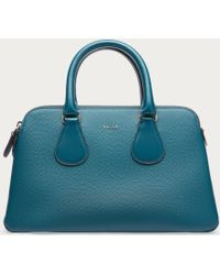 Bally | Berkeley Small Women ́s Small Leather Top Handle Bag In Teal | Lyst