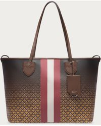 Bally Bernina Medium Women ́s Medium Canvas Tote Bag In Tobacco & Mustard