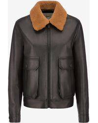 Bally - Leather Western Jacket - Lyst