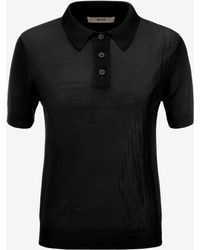 Bally - Viscose Knit Polo Shirt - Lyst