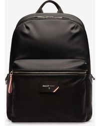 Bally - Logo Patch Backpack - Lyst
