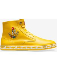 Bally - Men's Alpistar Leather High-top Sneakers Yellow - Lyst